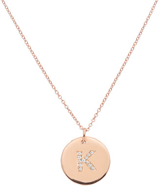 Ariana Rabbani 14K Diamond Initial Disc Necklace