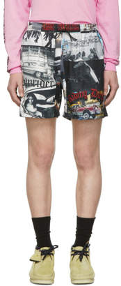 Adaptation Multicolor Print Track Shorts