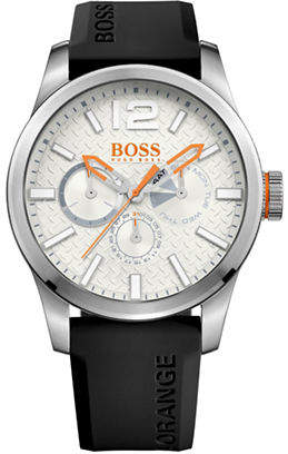 BOSS ORANGE Multi-Eye Paris Silicone and Stainless Steel Silicone Strap Watch