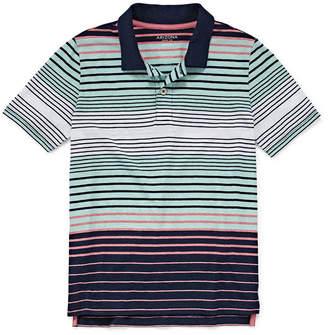 Arizona Short Sleeve Textired Polo Shirt Boys 4-20