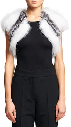 Oscar de la Renta Striped Fox Fur Bolero