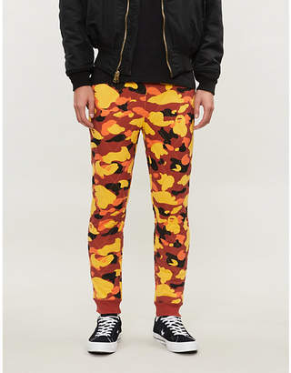 A Bathing Ape Camouflage-print quilted stretch-jersey jogging bottoms