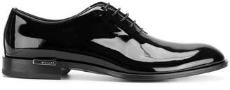Versace patent lace-up shoes