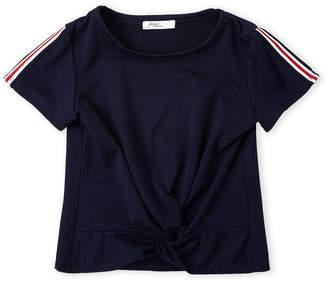 Pinc Premium Girls 7-16) Contrast Stripe Twist Tee