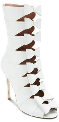 Laurence Dacade Women's Silda Leather Cutout Bow-Front Booties