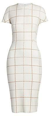 Victoria Beckham Women's Check Sheath Dress