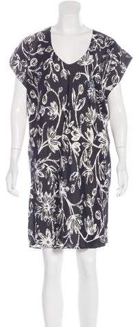 Balenciaga  Balenciaga Floral Print Short Sleeve Dress