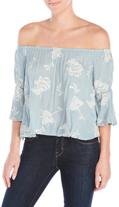 lush Embroidered Off-The-Shoulder Top $68 thestylecure.com