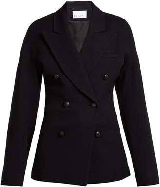 Raey Double-breasted waisted wool-blend blazer