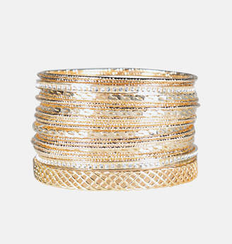 Avenue Twisted Bangle Set