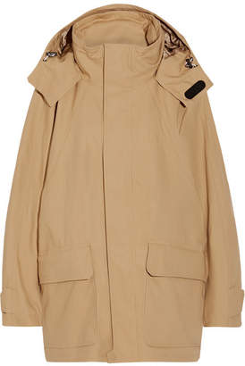 Hooded Cotton-blend Ripstop Parka - Beige