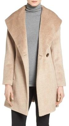 Petite Women's Trina Turk 'Bonnie' Shawl Collar Skirted Coat $545 thestylecure.com