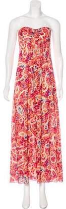 Trina Turk Floral Print Silk Dress