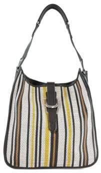 Sam Edelman Meryl Leather Trimmed Hobo Bag