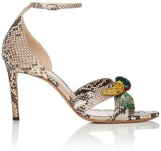 Altuzarra Women's Bisbee Python Ankle-Strap Sandals