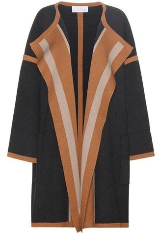 Chloé Chloé Knitted cotton-blend coat