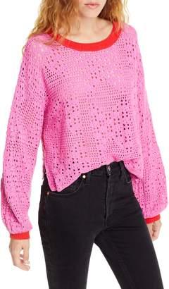 Free People Home Run Crop Sweater