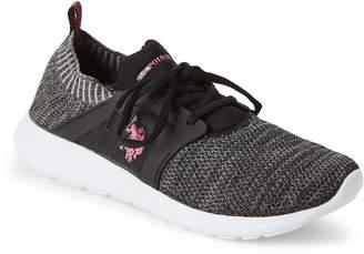 U.S. Polo Assn. Black & Grey Aeris Knit Mesh Sneakers