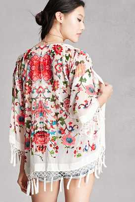 FOREVER 21+ JayLey Floral Velvet Kimono $78 thestylecure.com