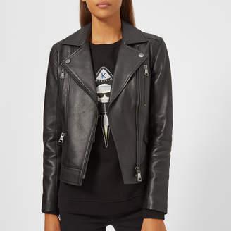 Karl Lagerfeld Women's Ikonik Biker Jacket