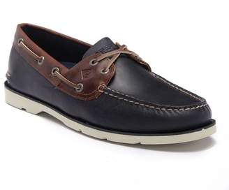 Sperry Leeward 2-Eye Leather Yacht Boat Shoe - Wide Width Available