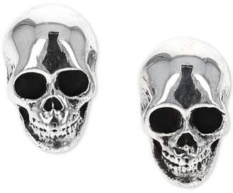 King Baby Studio Women's Rock n' Roll Stud Earrings in Sterling Silver