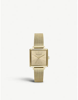 Armani Exchange AX5801 Lola Square gold-plated watch