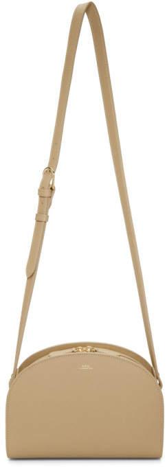 A.P.C. Beige Half-Moon Bag