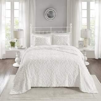 Home Essence Amber 3 Piece Cotton Chenille Bedspread Set