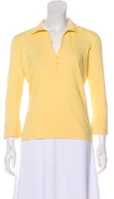Loro Piana Knit Collar Shirt