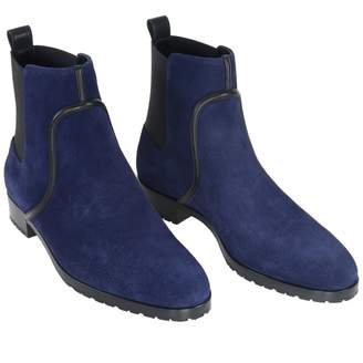 Sergio Rossi Navy Suede Ankle boots