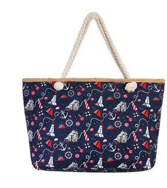 Riah Fashion Women's Nautical Print Tote Bag