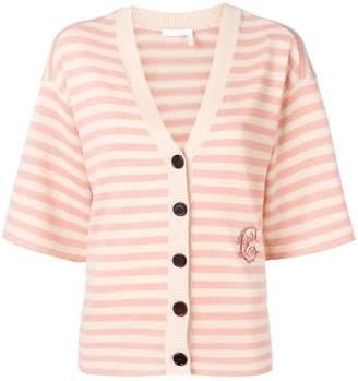 Chloé striped cashmere cardigan