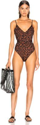Nicholas V Swimsuit in Black Leopard | FWRD