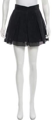 Ksubi Suede Laser Cut Skirt
