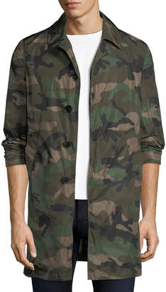 Valentino Men's Camouflage Button Coat