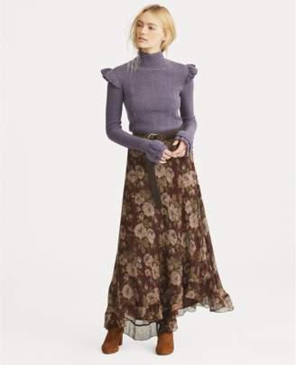 Polo Ralph Lauren Floral-Print Silk Maxiskirt