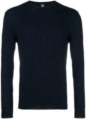 Eleventy crew neck knitted sweater