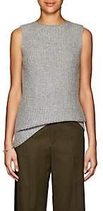 Calvin Klein WOMEN'S CASHMERE-BLEND BATEAU NECK TUNIC-LIGHT GREY SIZE S