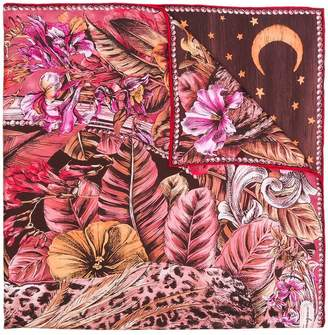 Salvatore Ferragamo Fantastic Animal print scarf