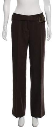 Dolce & Gabbana Virgin Wool Chevron Pants