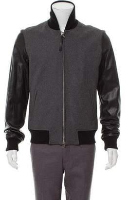 Pierre Balmain Wool & Leather Jacket w/ Tags