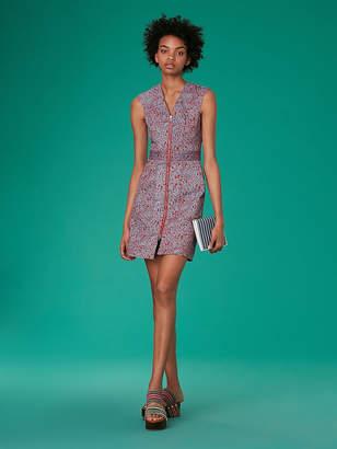 Diane von Furstenberg Zip Front Sheath Dress