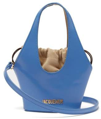 Jacquemus Le Carino Patent Leather Bag - Womens - Blue