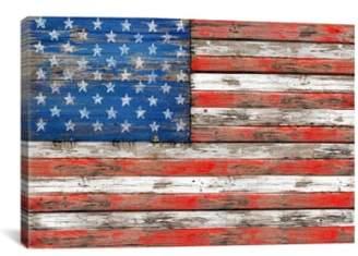 iCanvas 'USA Vintage Wood - Diego Tirigall' Giclee Print Canvas Art