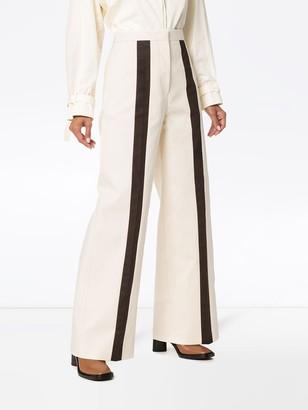 Jil Sander contrast stripe high-rise trousers