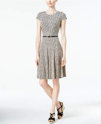 Jessica Howard Printed Fit & Flare Dress $69 thestylecure.com