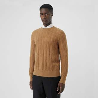 Burberry Cable Knit Cashmere Sweater