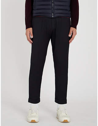 Corneliani CC Collection regular-fit tapered cropped stretch-wool trousers