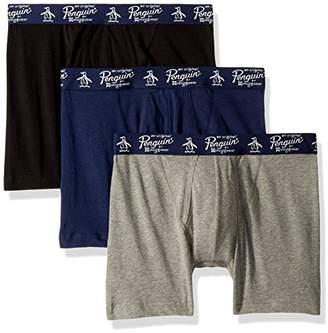 Original Penguin Men's 3 Pack Basic Knit Cotton Boxer